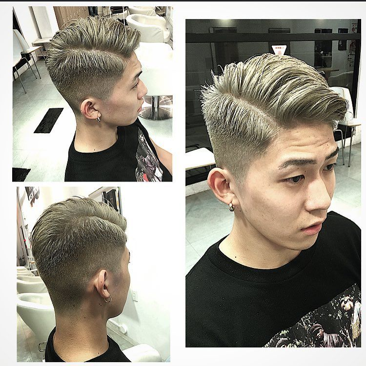 Grey Hair Fade Haircuts For Japanese Man Japanese Mans
