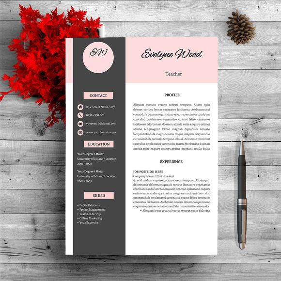 Modern Resume Template @creativework247 | Resume Fonts - How To do A ...