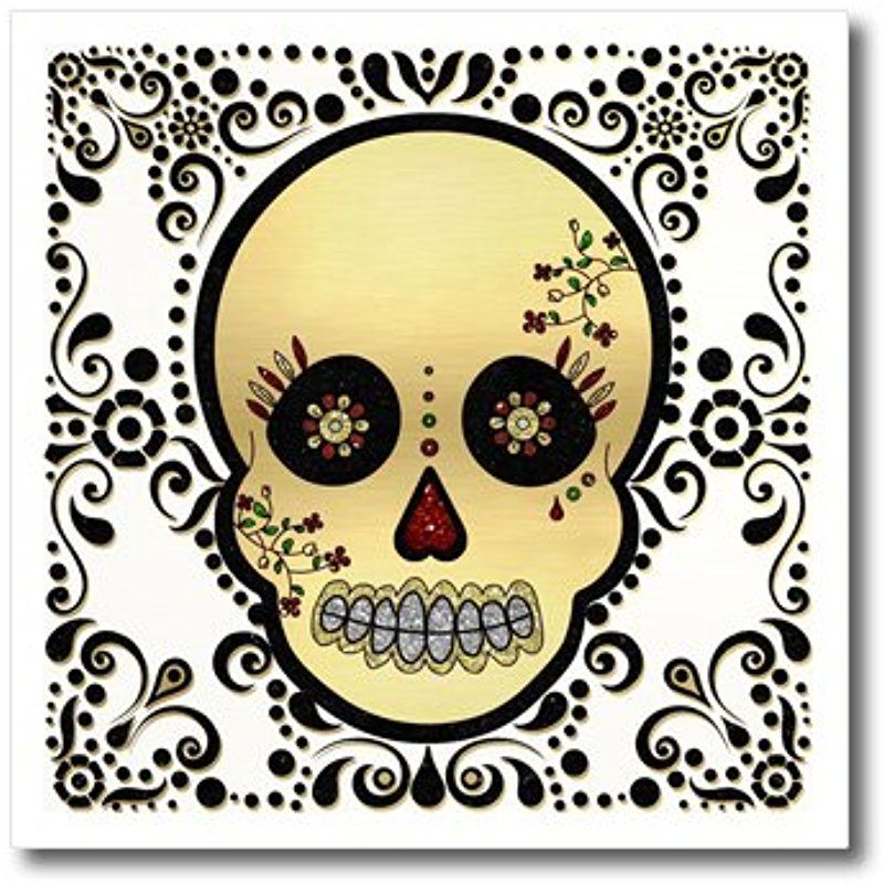 3drose ht_175370_2 sugar skull gold and blackiron on heat