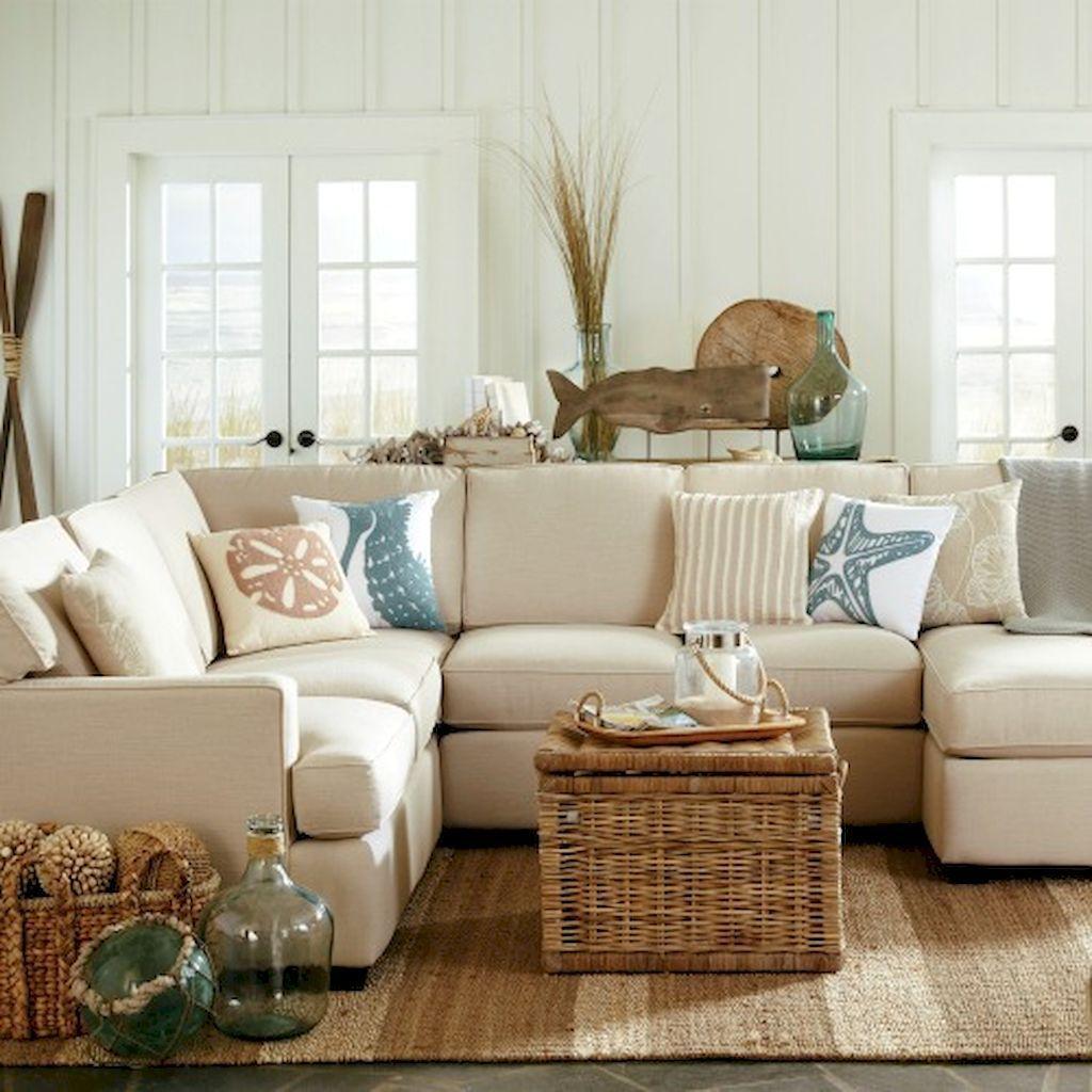65 Comfy Coastal Living Room Decorating Ideas | Coastal decor ...