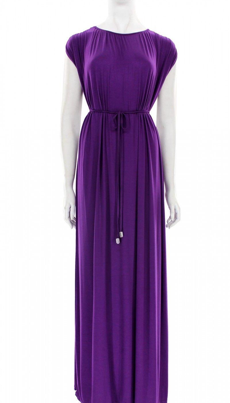 Grecian Solid Maxi Dress - Purple | Dresses | Pinterest | Maxi ...