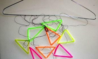 Triangle straw Xmas déco
