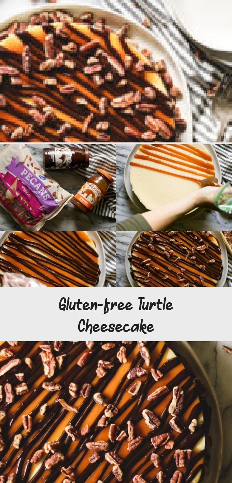 Gluten-free Turtle Cheesecake - Yumyum #turtlecheesecakerecipes