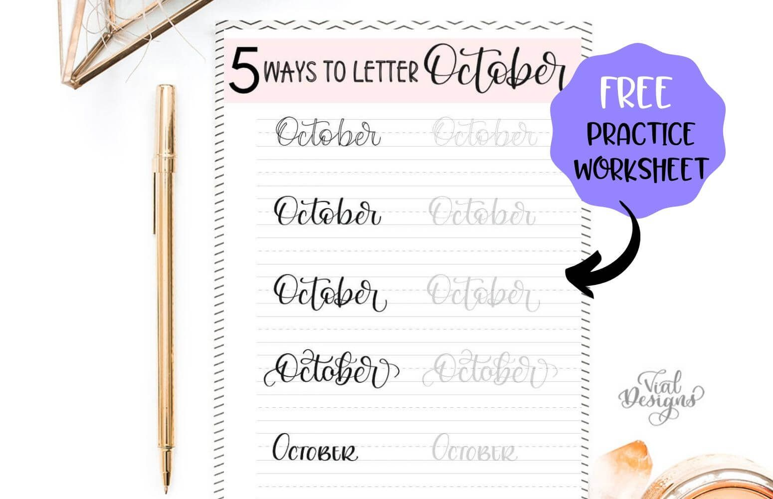 5 Ways To Letter October Plus Free Practice Worksheet By