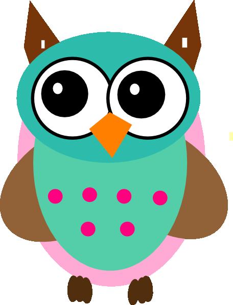 aqua pink owl clip art cartoon download vector clip art online rh pinterest com owl clipart free download owl clip art free printable