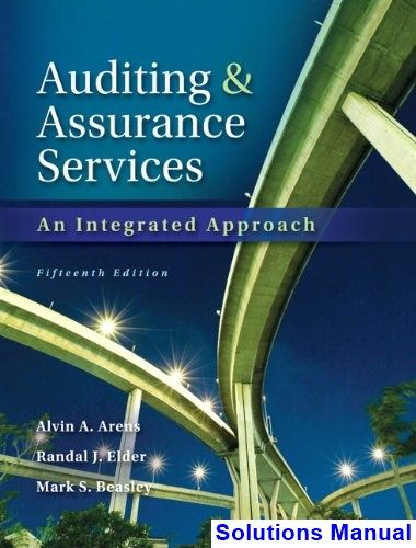 Auditing and Assurance Services 15th Edition Arens