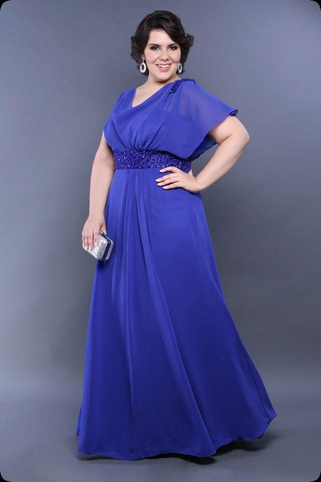 Vestidos de festa Plus Size cheia de estilo, glamour e luxo ...