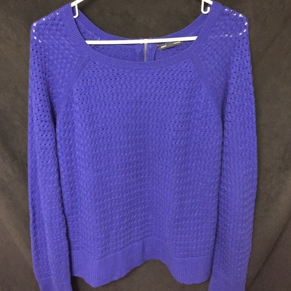 Beautiful dark blue sweater. Worn one time. Basically brand new ! So beautiful :) American Eagle Outfitters Tops