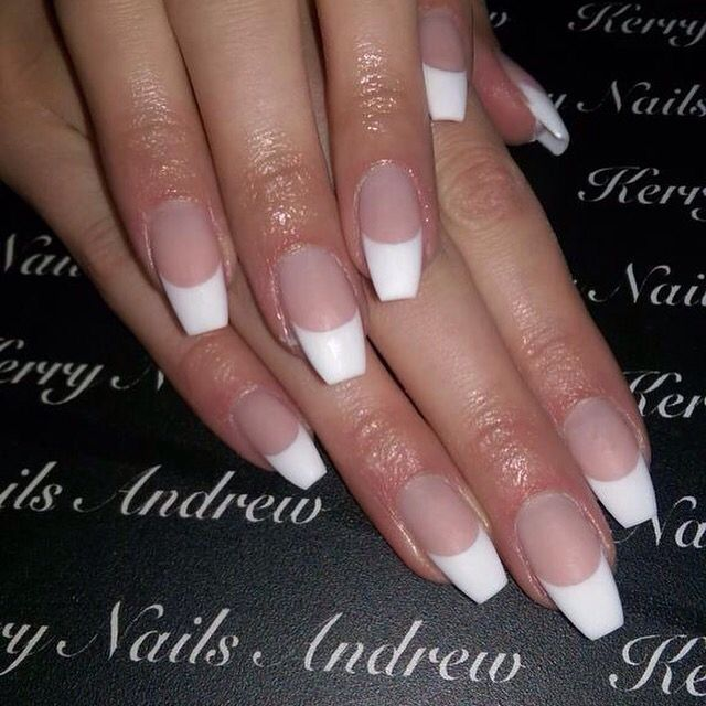 Image result for french tip coffin nail designs nails image result for french tip coffin nail designs prinsesfo Image collections