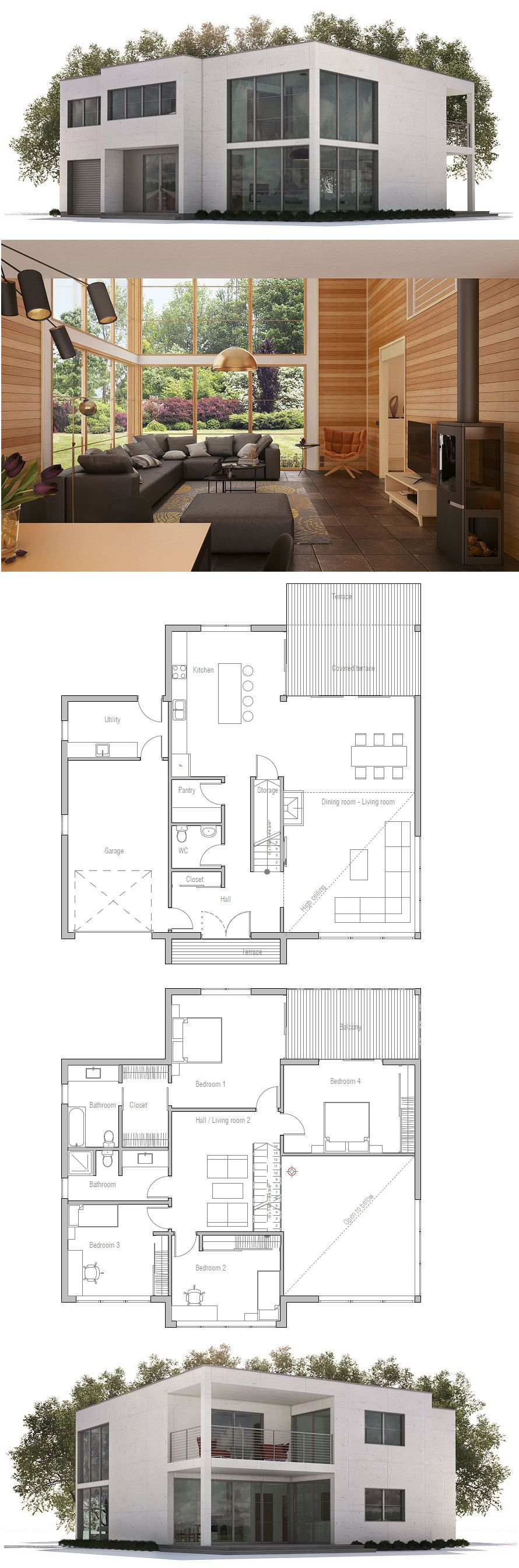 ^ ontemporary Modern House Plan 76317 Facebook, Double doors and ...
