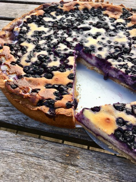 Photo of A quick cheesecake with blueberries