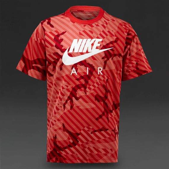 Nike Boys T-Shirt CAT Seasonal Camo HBR - Boys Clothing - Challenge  Red/Dark Grey Heather