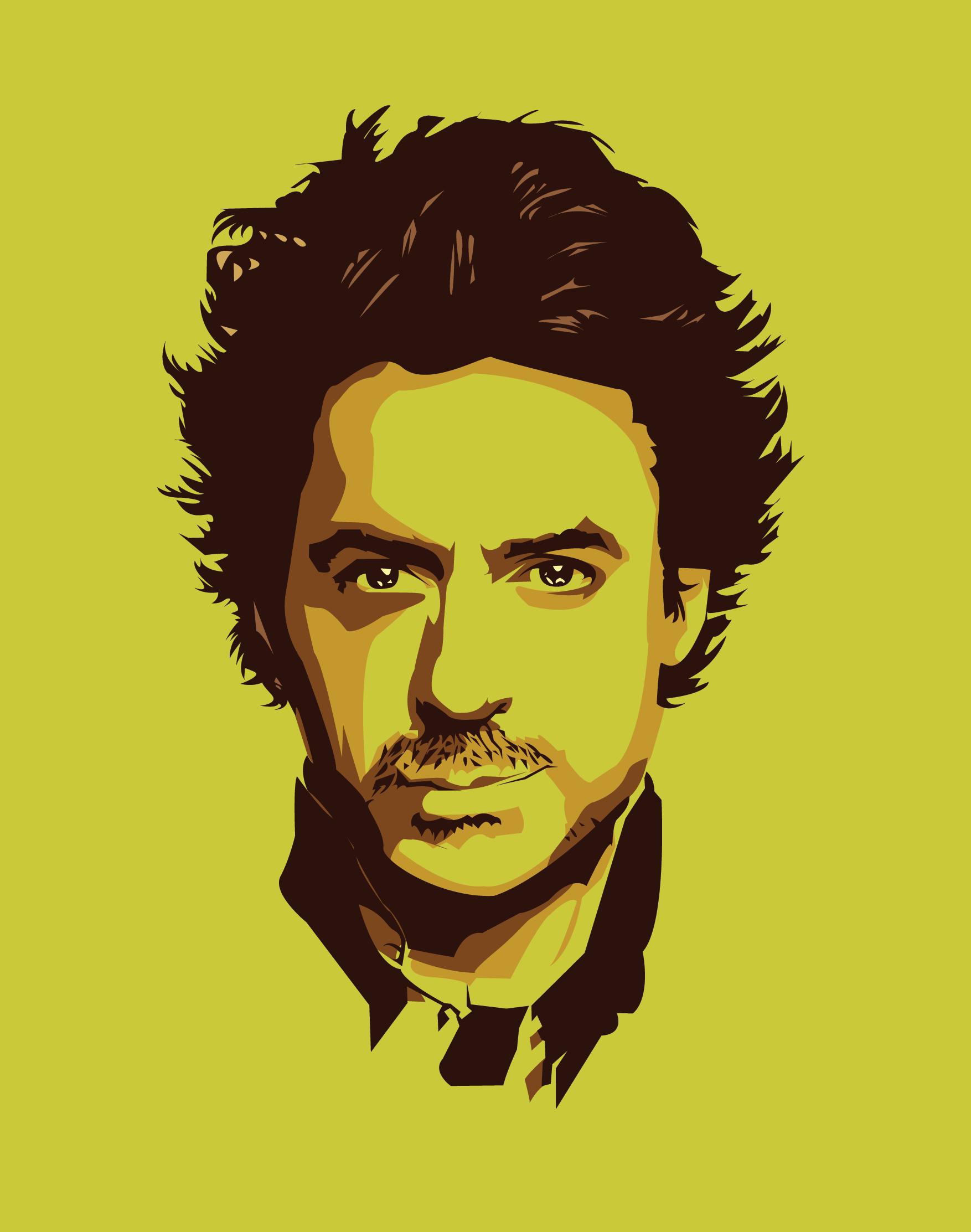 Vector Digital Illustration Sherlock Holmes RDJ