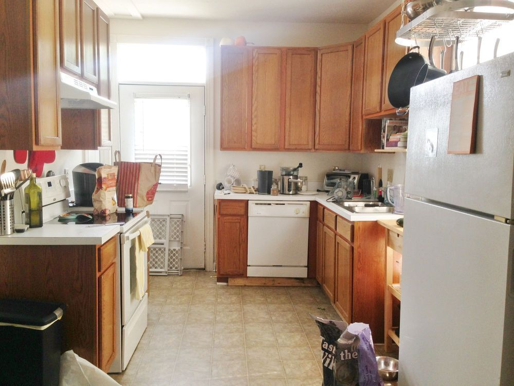 Before  After $387 Budget Kitchen Update in 2018 Kitchen Decor