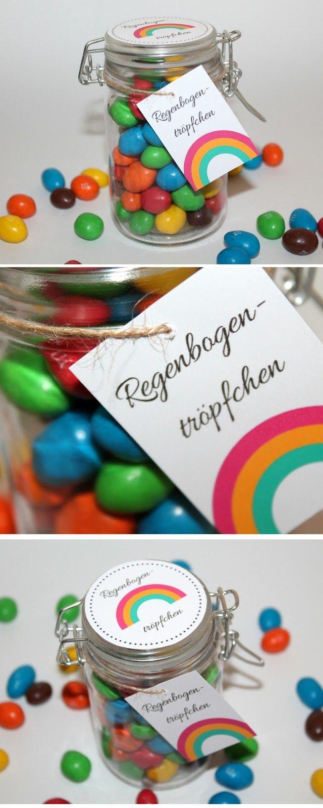 Diy Süßes Geschenk Aus Dem Glas Regenbogentröpfchen Diy Geschenke Geschenkideen Gifts Christmas Und Diy