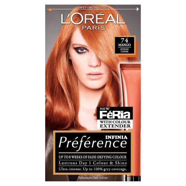 Preference Infinia P74 Mango Intense Copper Hair Dye In 2020