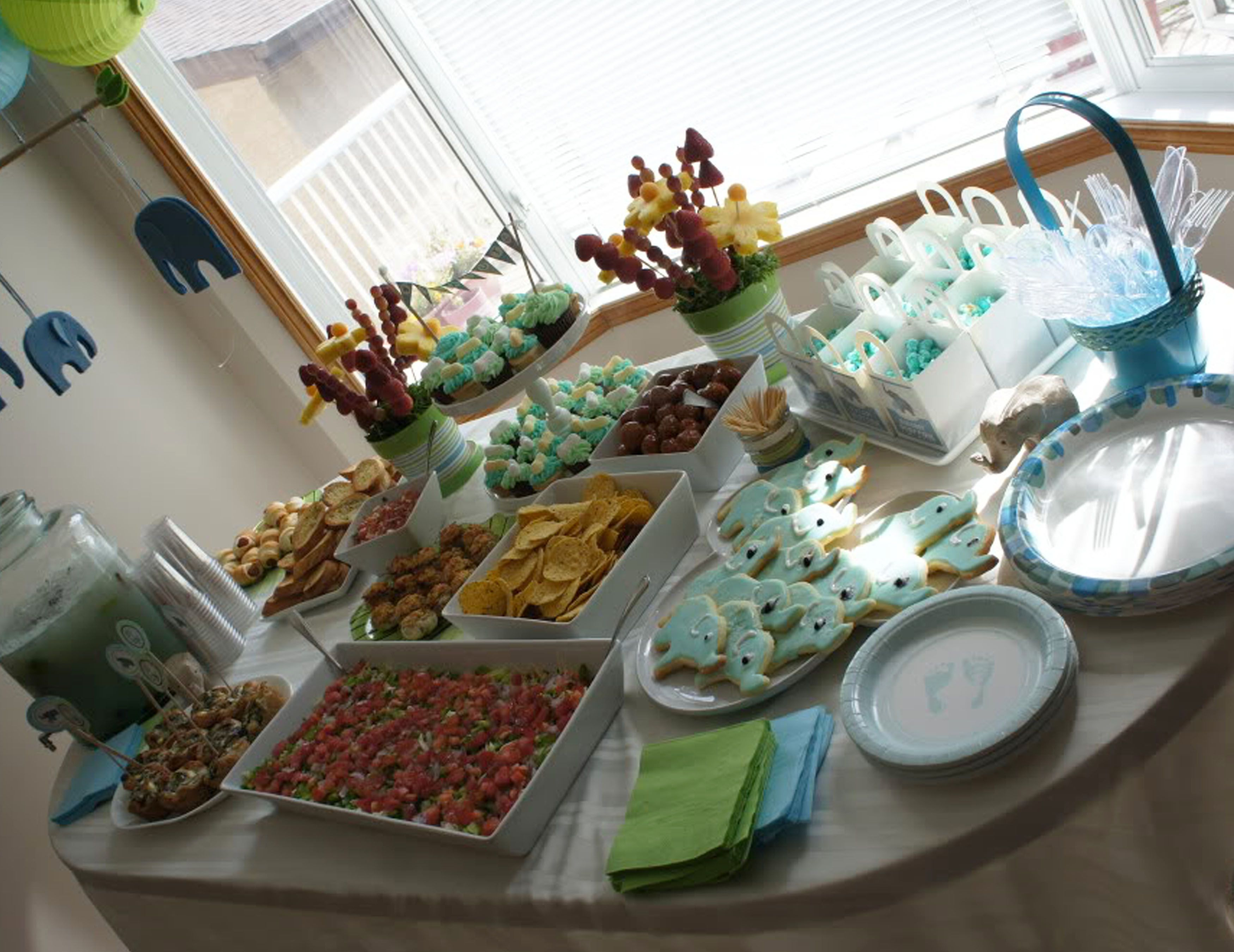 Baby Hippo Baby Shower Theme Finger Food Baby Shower Foods