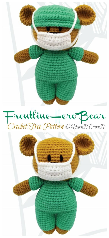 Amigurumi Frontline Hero Bear Crochet Free Pattern - Crochet & Knitting