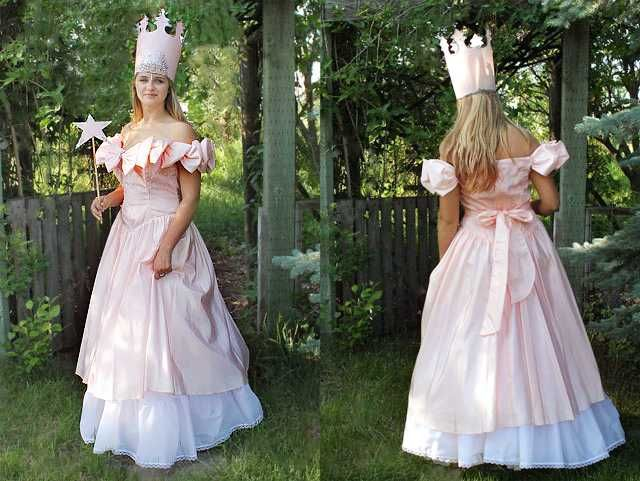 How to Style a No-Sew Glinda the Good Witch Costume | Witch ...