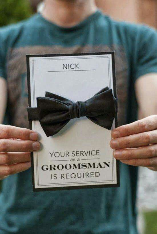 Pin by emily elizabeth on love pinterest wedding proposals and how to ask your groomsmen wedding bowtie junglespirit Gallery