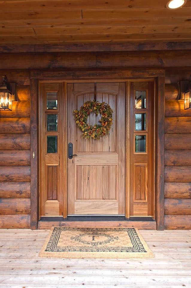 Log Home Front Door Doors Pinterest Front Doors