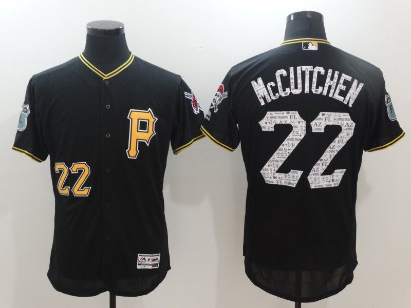 Men's Pittsburgh Pirates #22 Andrew McCutchen Black 2017 Spring Training Stitched MLB Majestic Flex Base Jersey