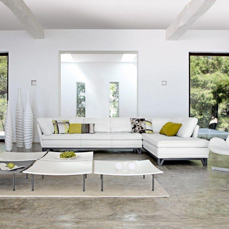 Delightful Déco Salon Blanc Pour Une Atmosphère Accueillante U2013 80 Idées