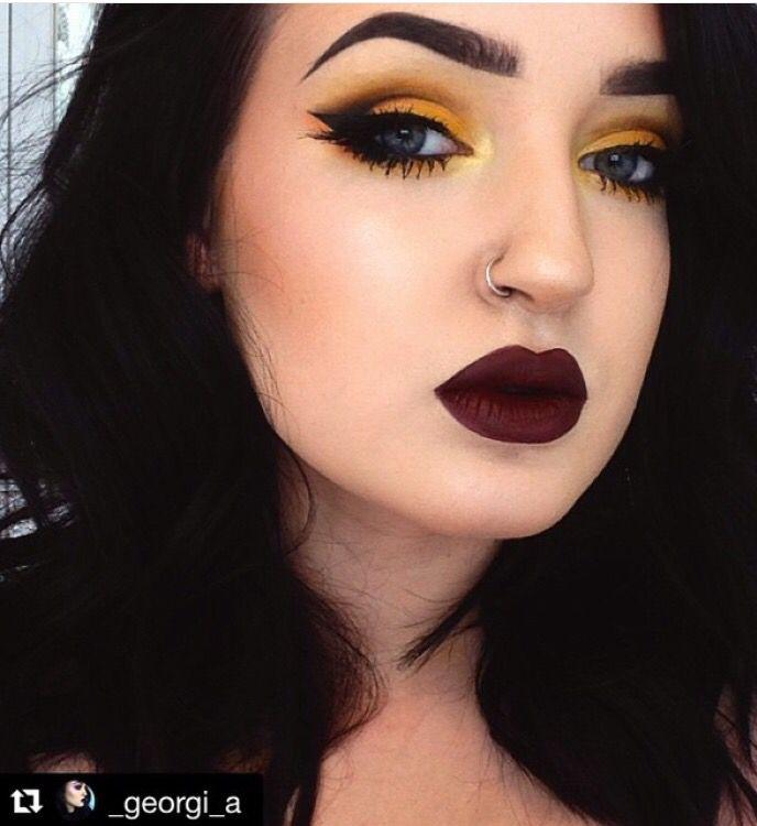 Yellow Eyeshadow Stunning Makeup Yellow Eye Makeup Hair Makeup