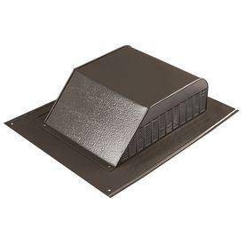 Master Flow 60 Cfm Brown Aluminum Slant Back Roof Louver Ssb960abrf