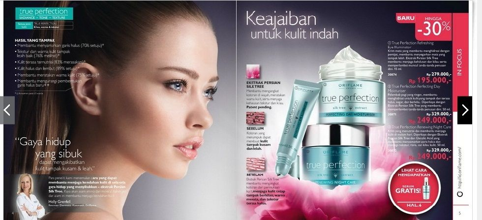 True Perfection Series Promo  Disc. 30% and Free True Perfection Serum (IDR 279.000)