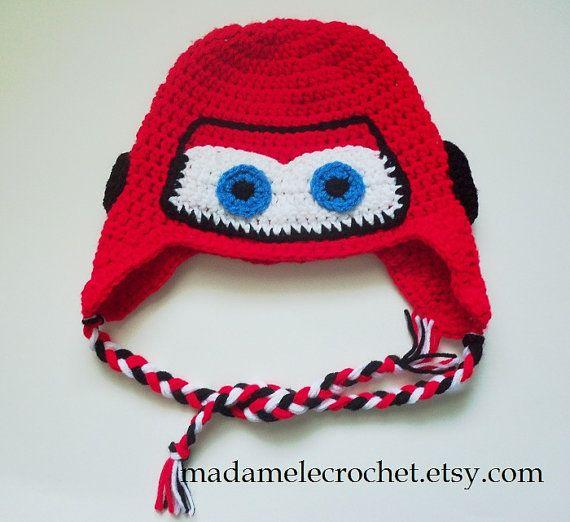 Lightening McQueen | Crochet Disney Hats | Pinterest | Gorros ...