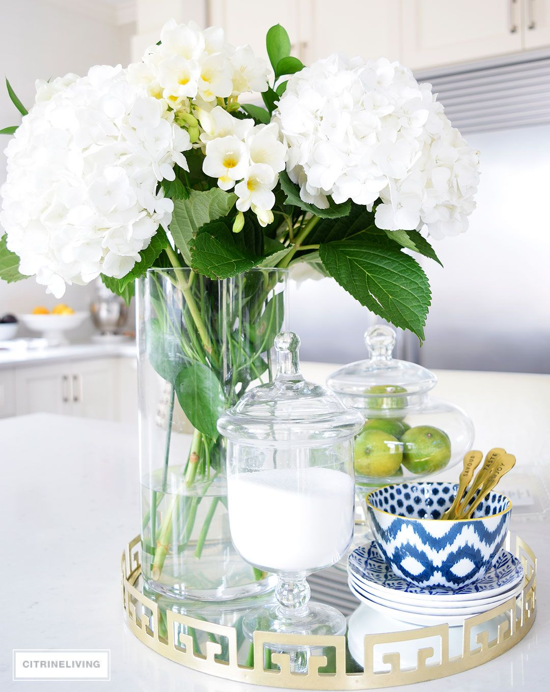 Decorating with fresh and faux florals beautiful kitchen bowls and kitchens - Kitchen table centerpiece bowls ...