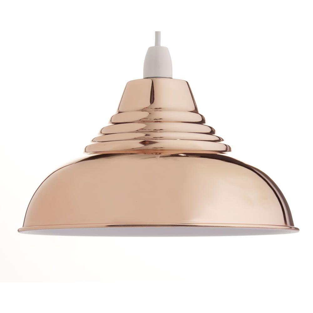 Vintage Copper Effect Pendant Light Shade