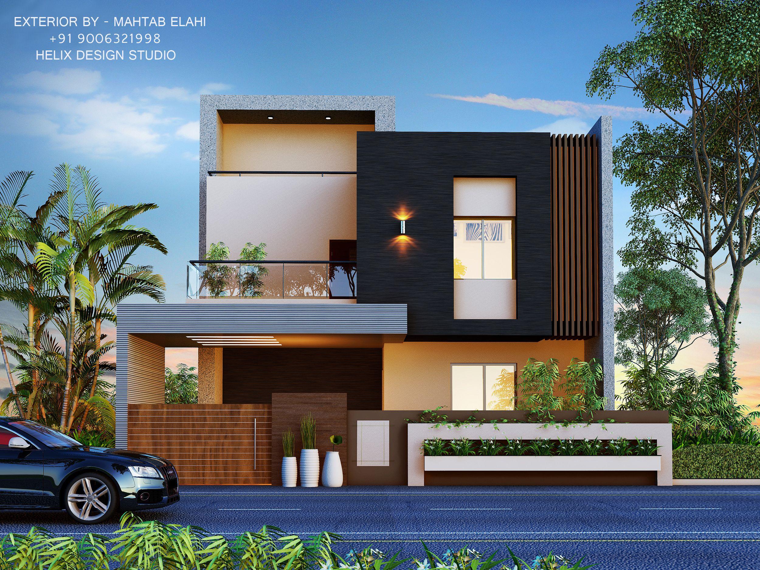 Exterior By Mahtab Elahi 91 9006321998 Helix Design Studio Me