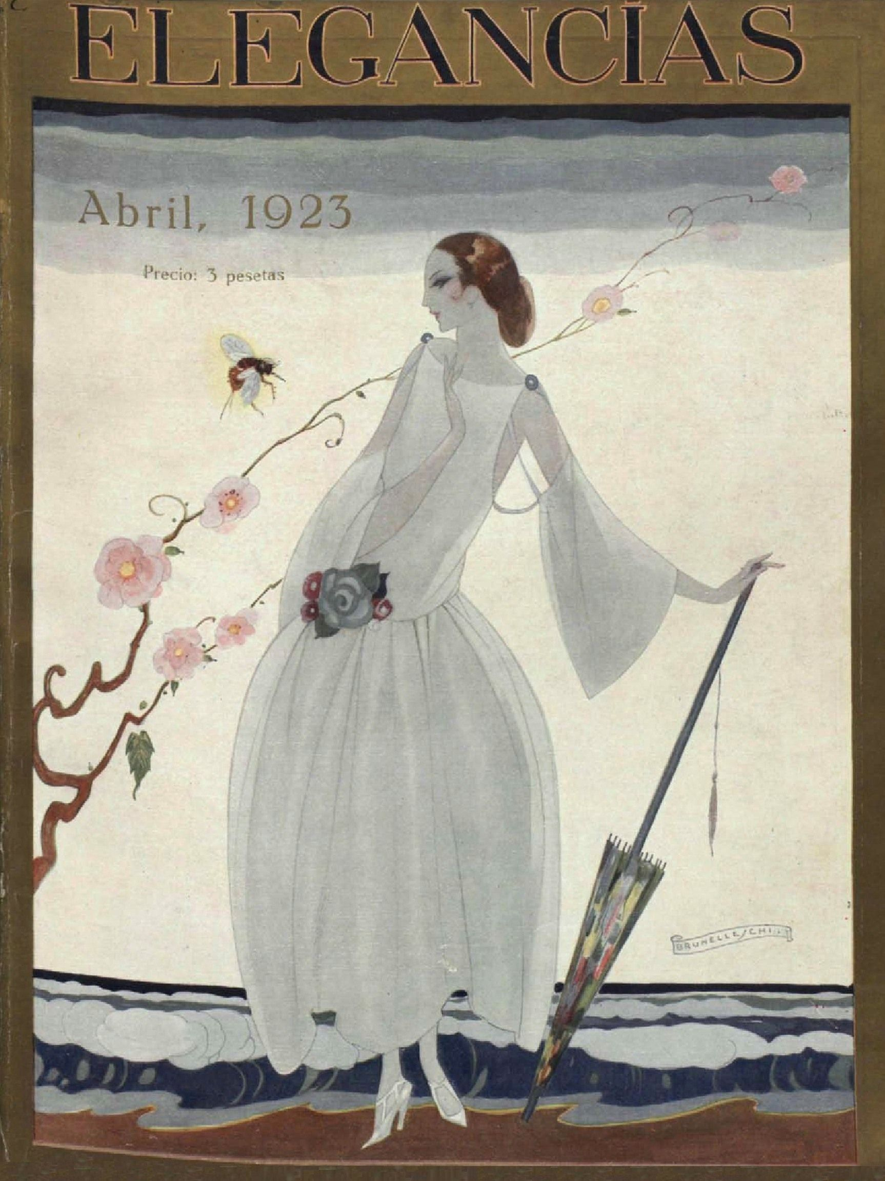"Bruneleschi. Portada de la revista ""Elegancias"" - Madrid - Abril 1923"