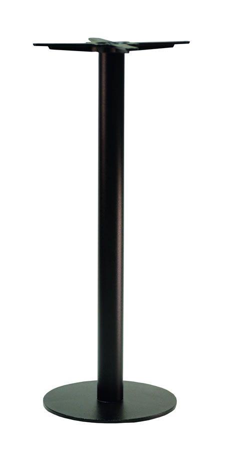 Gorzan Black Poseur Tall Bar Table Base Cast Iron Round Slimline Flat Base