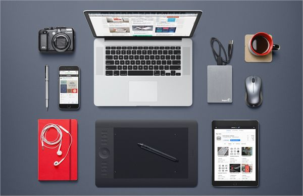 12 Free Isolated Objects To Download Graphic Designer Desk Desk Design Desk Essentials