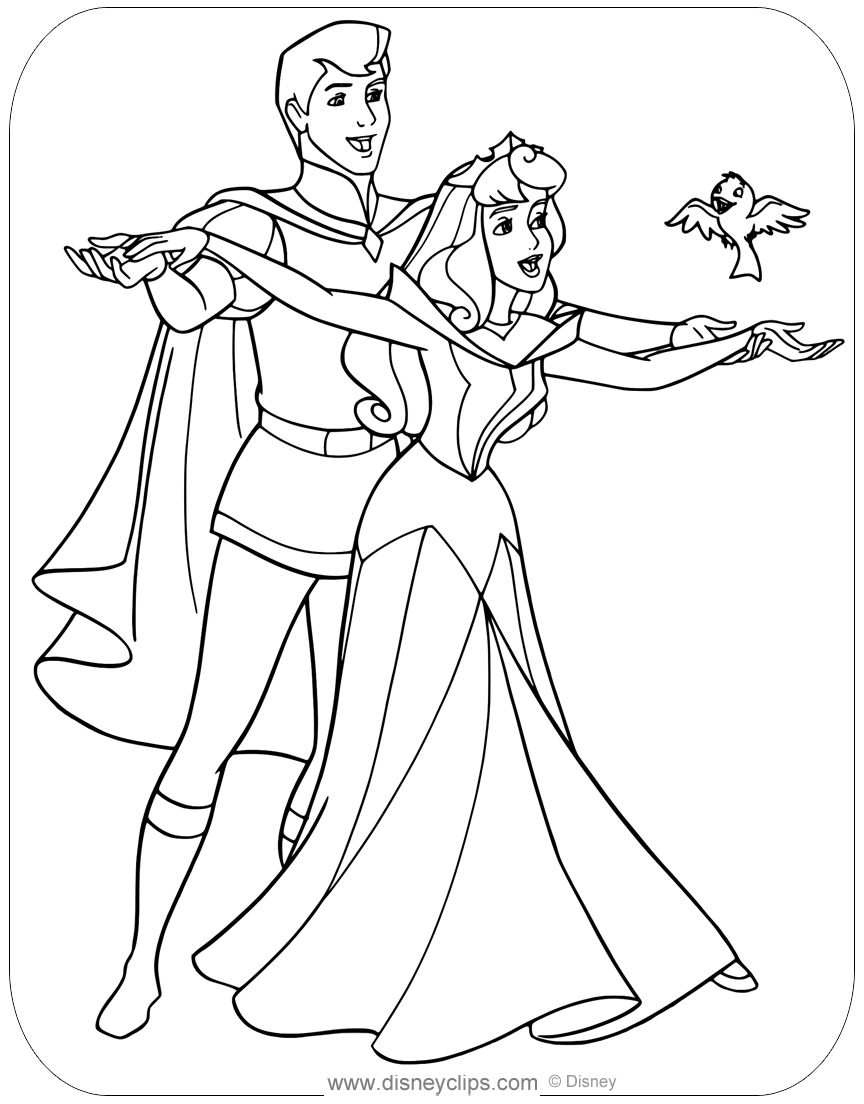 Pin by Carla on Sleeping Beauty  Princess coloring pages, Disney