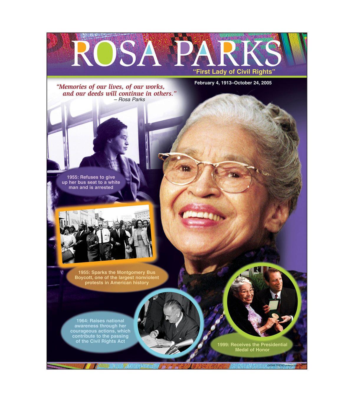 "Rosa Parks Learning Chart 17""x22"" 6pk Rosa parks"