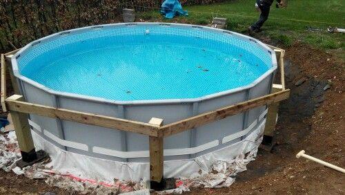 Pin von brice auf piscine intex ultra frame enterr e et for Garten pool leiter