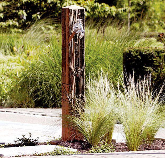 Wasserstelle Im Garten graf wasserzapfsäule poly wood darkwood 356030 kunststoff garten