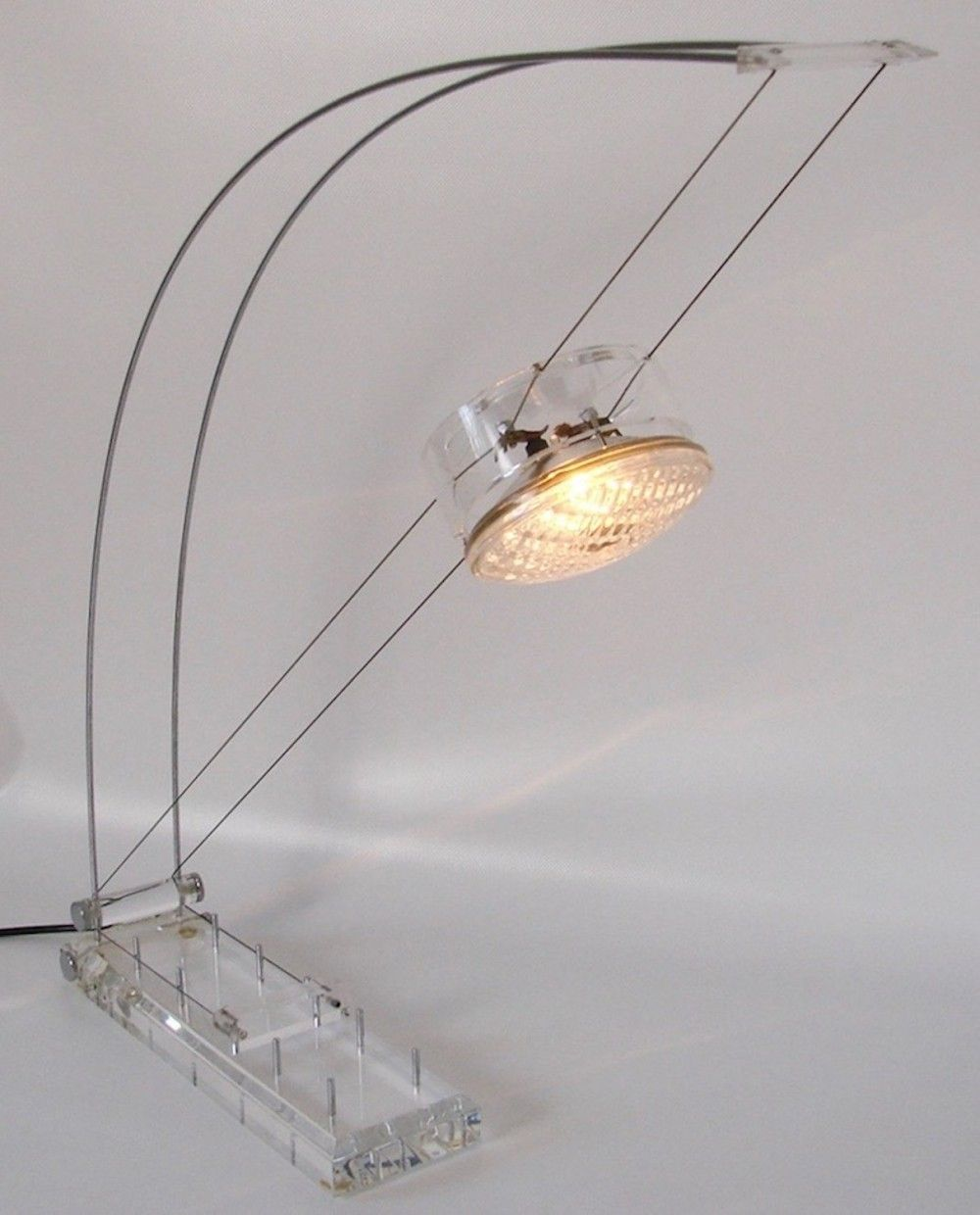 Lamps Plus La Mesa: Arco Spring Bow Light By Axel Meise, 80s