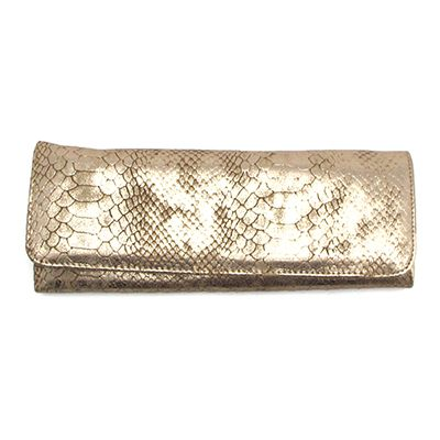 Big Buddha Jackson Faux Snakeskin Gold Wallet at Maverick Western Wear