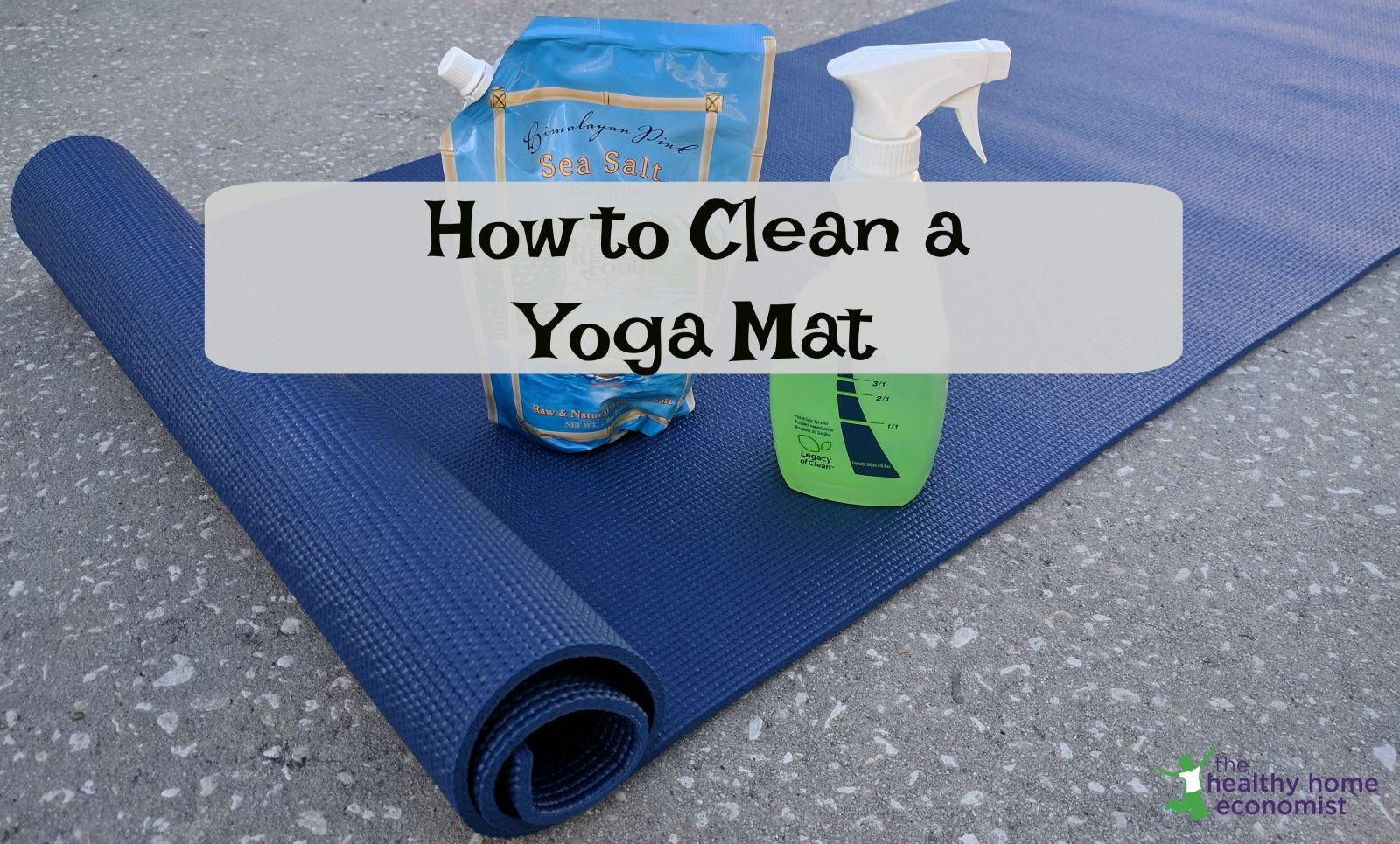 How to clean a yoga mat or remove the slippery film from
