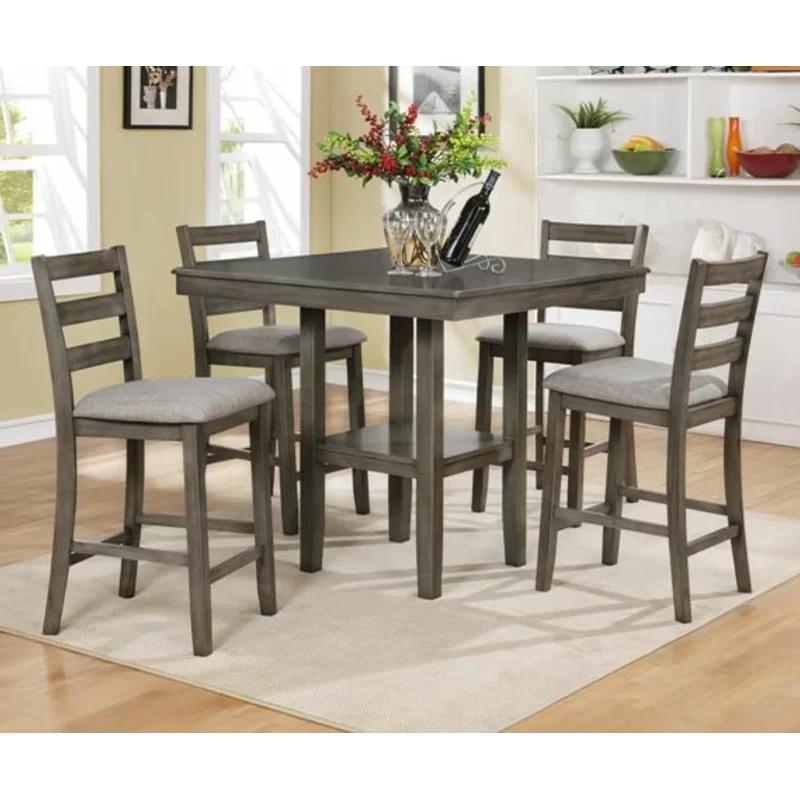 Arshen 5 Piece Counter Height Dining Set Counter Height Dining Table Set Counter Height Dining Sets Solid Wood Dining Set