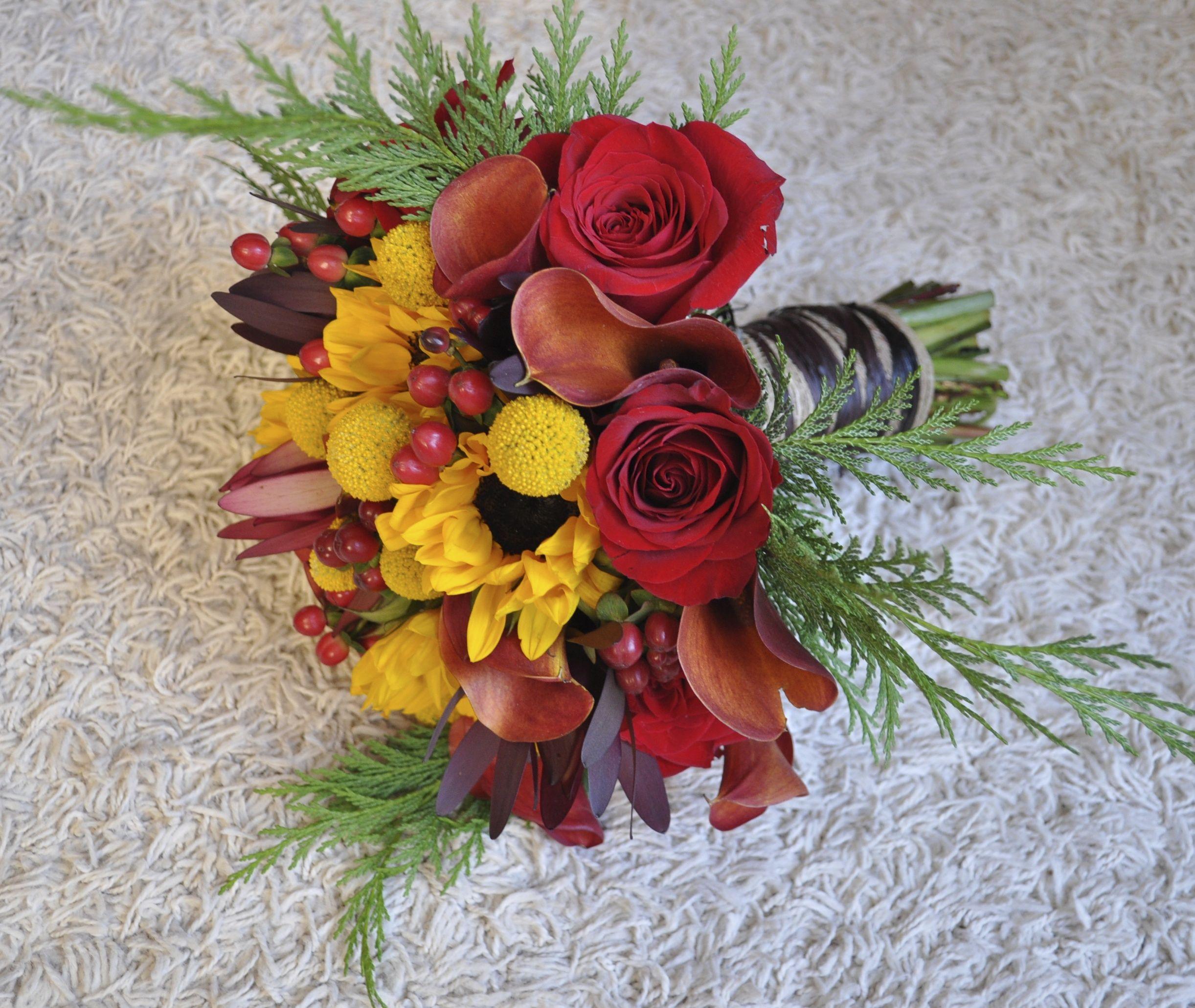 Seasonal flower bouquet in fall colors.   Fleurelity floral bouquets ...
