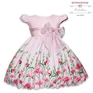 Vestido floral saia miguê - Mio Bebê