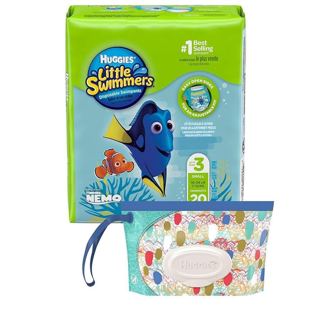 Huggies Little Swimmers Disposable Swim Diaper 20 Ct Size 16 26 Lb Bonus Huggies Little Swimmers Little Swimmers Diapers Swim Diapers