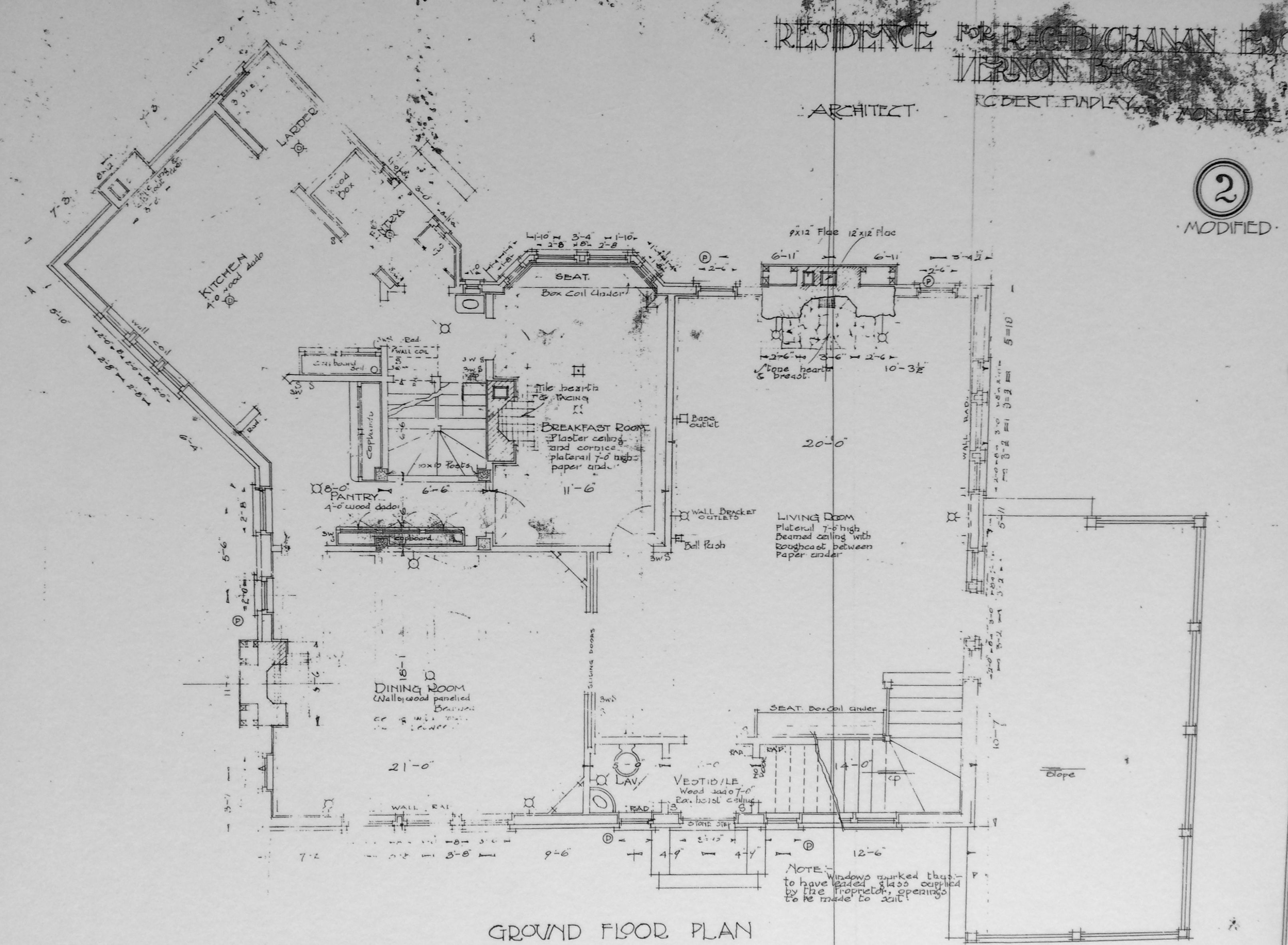 A copy of the original blueprint of the mackie lake house built in paddy mackie bequeathed the house and property to the mackie lake house foundation for the enjoyment and education malvernweather Images