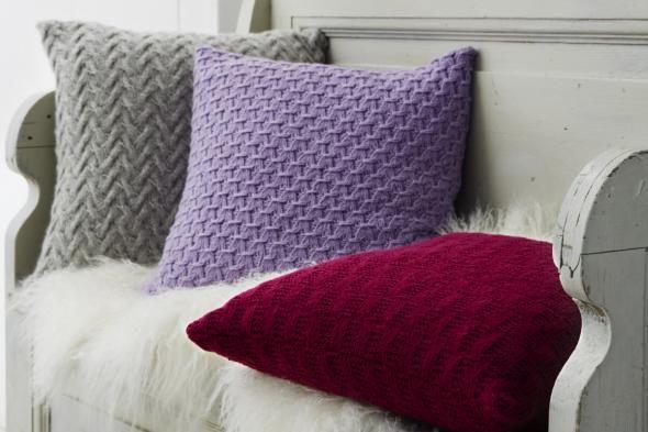 kaschmir kissen stricken strick und h kelanleitungen pinterest kissen stricken stricken. Black Bedroom Furniture Sets. Home Design Ideas